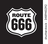 route 666 road sign. easy to... | Shutterstock .eps vector #348940292