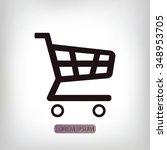 shopping chart icon   Shutterstock .eps vector #348953705