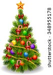 illustration of decorated... | Shutterstock . vector #348955178