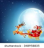 illustration of happy santa in... | Shutterstock . vector #348958835
