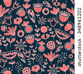 vector seamless pattern with... | Shutterstock .eps vector #348961202