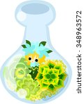 mini garden and cute little... | Shutterstock .eps vector #348963572