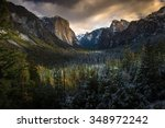Beautiful Sunet At Tunnel View...