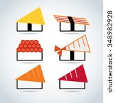 japanese food icon set   Shutterstock .eps vector #348982928