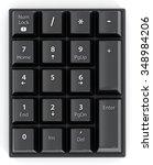 black numpad with number keys...   Shutterstock . vector #348984206