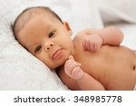 beautiful baby one month with...   Shutterstock . vector #348985778