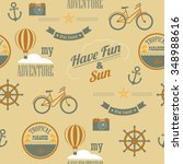 summer newspaper texture... | Shutterstock .eps vector #348988616