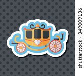 wedding carriage flat icon with ... | Shutterstock .eps vector #349009136