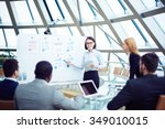 business team discussing new... | Shutterstock . vector #349010015