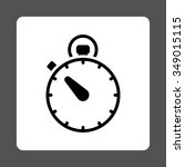 stopwatch vector icon. style is ... | Shutterstock .eps vector #349015115