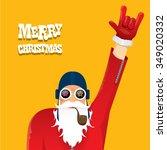 vector rock n roll santa claus... | Shutterstock .eps vector #349020332