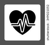 heart diagram vector icon.... | Shutterstock .eps vector #349021052