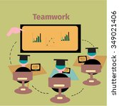 team building concept in vector | Shutterstock .eps vector #349021406