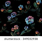 seamless floral pattern made... | Shutterstock . vector #349032938