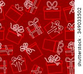 seamless pattern with gift... | Shutterstock .eps vector #349033502