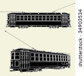 old tram trolley vector 01 | Shutterstock .eps vector #34903534