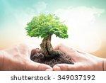 charity concept  human handing... | Shutterstock . vector #349037192