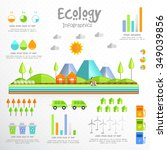 creative ecological infographic ... | Shutterstock .eps vector #349039856
