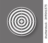dartboard vector icon with... | Shutterstock .eps vector #349041575