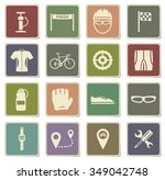 bycicle label icons for web | Shutterstock .eps vector #349042748