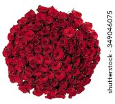 Stock photo beautiful red roses bouquet isolated on white 349046075