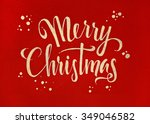 merry christmas red and gold... | Shutterstock . vector #349046582