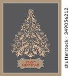 merry christmas. christmas... | Shutterstock . vector #349056212