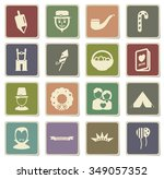 holidays label icons for web | Shutterstock .eps vector #349057352