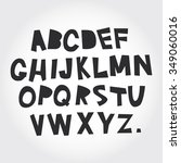 alphabet from a to z. set black ... | Shutterstock . vector #349060016