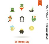 saint patricks day isolated... | Shutterstock . vector #349073702