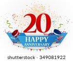 happy anniversary celebration... | Shutterstock . vector #349081922