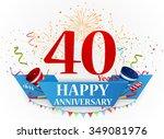 happy anniversary celebration... | Shutterstock .eps vector #349081976