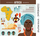 africa   infographics with data ... | Shutterstock .eps vector #349084052