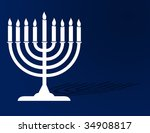 festival of lights menorah... | Shutterstock . vector #34908817