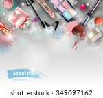cosmetics and fashion ...   Shutterstock .eps vector #349097162