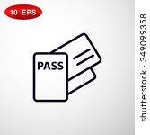 passport vector icon.   Shutterstock .eps vector #349099358