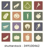 vegetables label icons for web | Shutterstock .eps vector #349100462