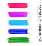 set of abstract color elements... | Shutterstock . vector #349101032