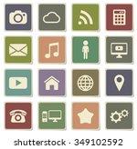social media label icons for web | Shutterstock .eps vector #349102592