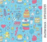 happy birthday pattern | Shutterstock .eps vector #349103255