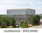 modern office building rising... | Shutterstock . vector #349116482
