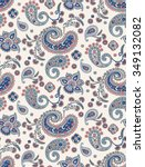 seamless paisley pattern in... | Shutterstock .eps vector #349132082