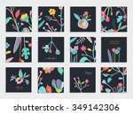 collection of unusual cards... | Shutterstock .eps vector #349142306