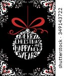 typographical greeting card.... | Shutterstock .eps vector #349143722