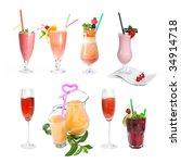 set of various cold cocktails... | Shutterstock . vector #34914718