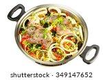 healthy food  uncooked dietary... | Shutterstock . vector #349147652