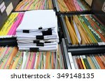 a file folder with documents... | Shutterstock . vector #349148135