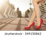 girl and woman heels  | Shutterstock . vector #349150862