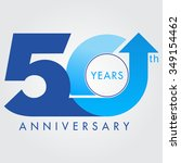 template logo 50th anniversary... | Shutterstock .eps vector #349154462