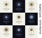 set luxury logos template... | Shutterstock .eps vector #349156856